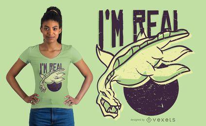 Diseño de camiseta real del lago ness