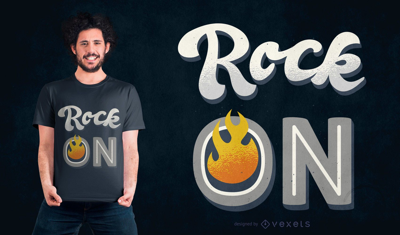 Rock on quote t-shirt design