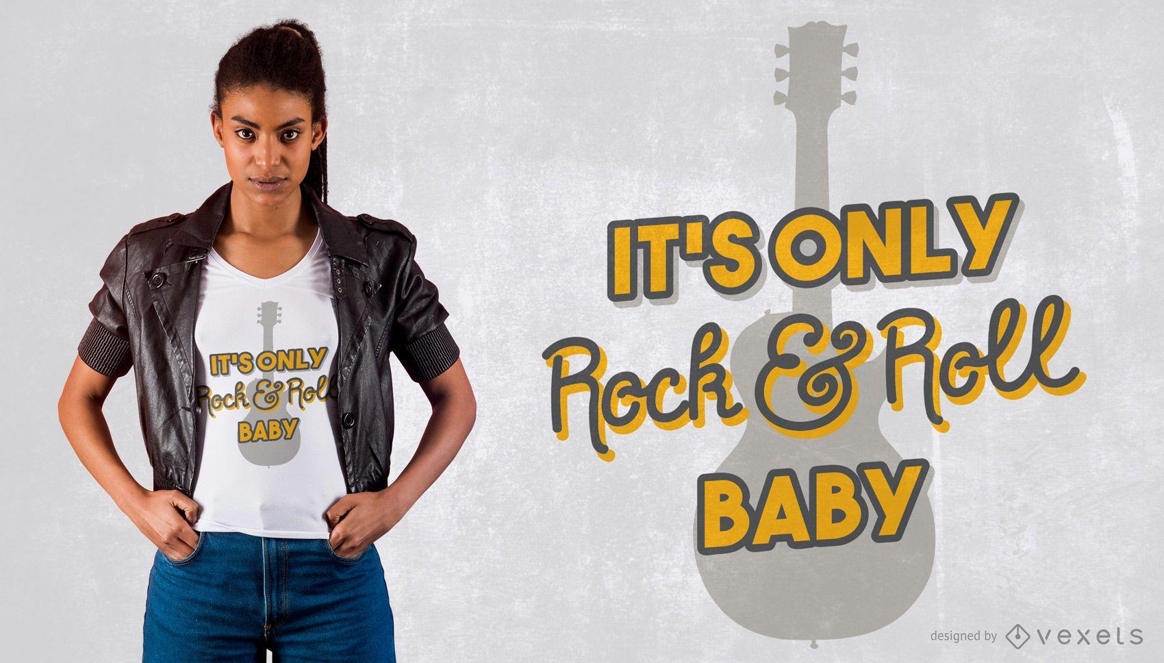 Only rock t-shirt design