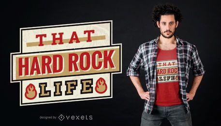 Diseño de camiseta de hard rock life