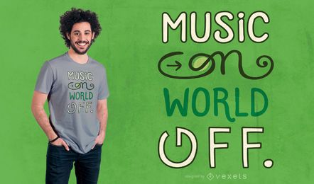Music on t-shirt design