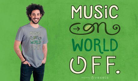 Musik auf T-Shirt Design