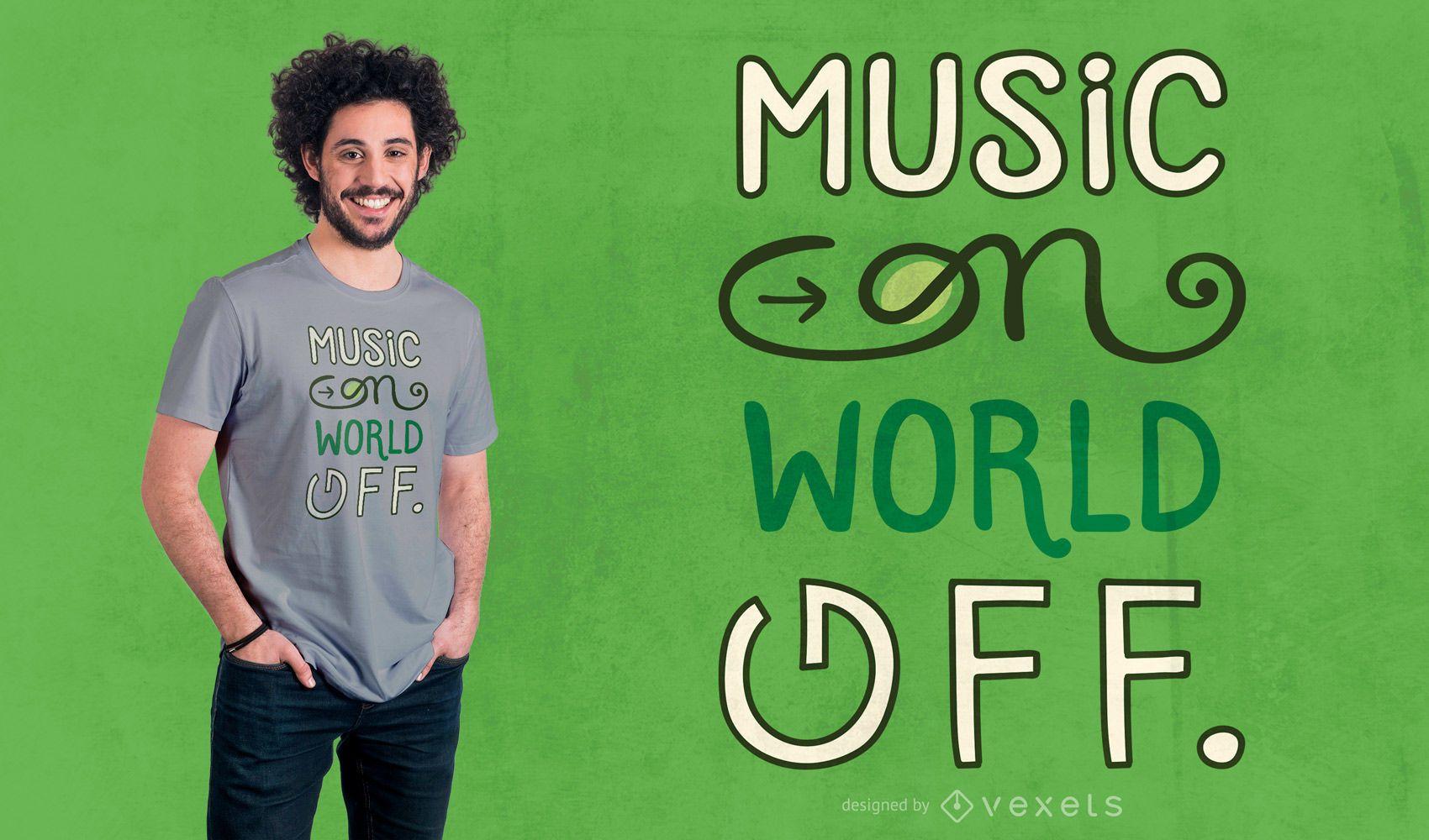 Music on t-shirt design