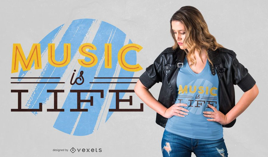 Music is life t-shirt design