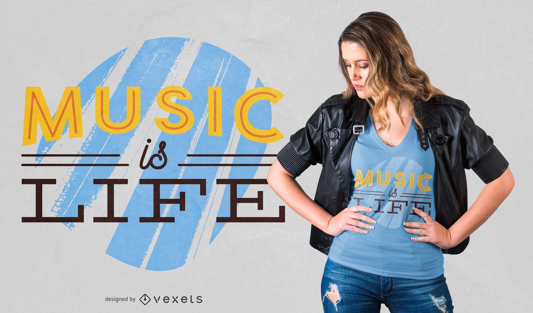 Music is life t-shirt design