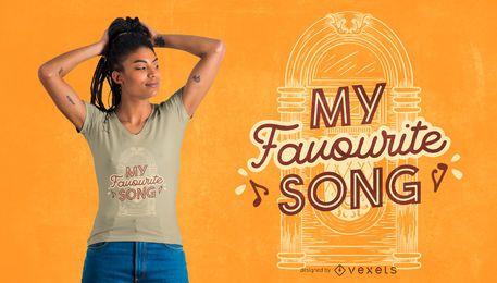 Design de camiseta da minha música favorita