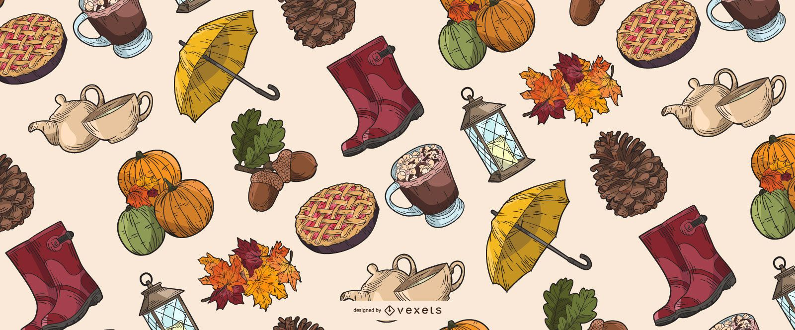 Fall Elements Illustration Collection