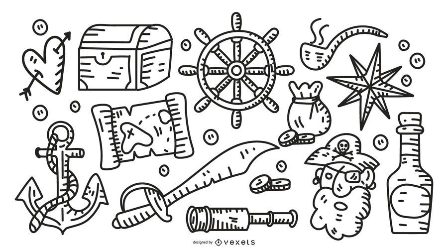 Pirate stroke elements collection