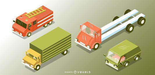 Set de transporte isométrico