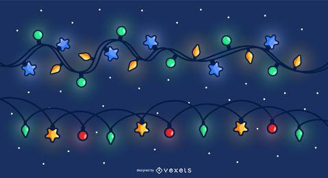 Fondo de cielo de luces de Navidad