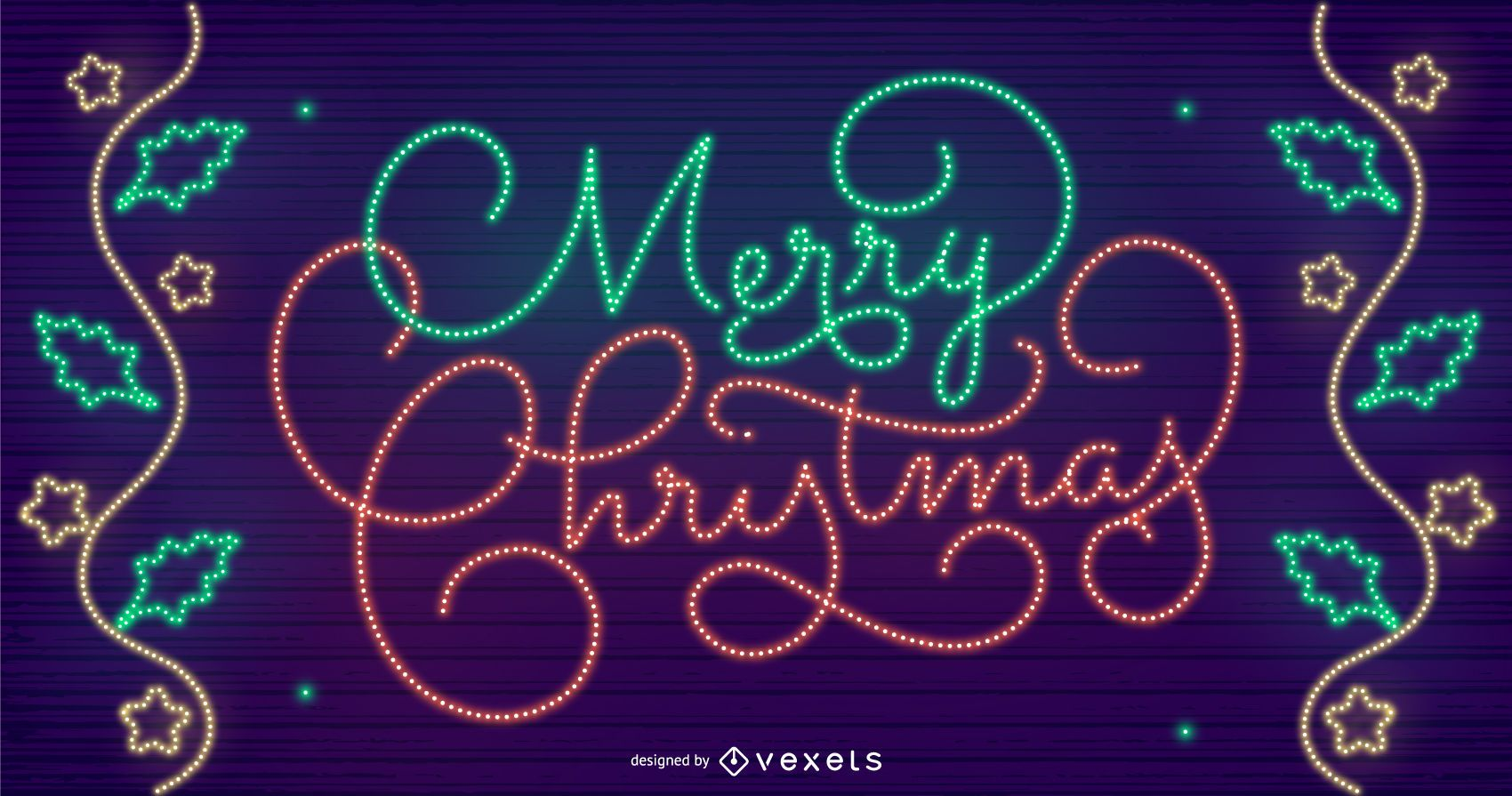 Schriftzug Frohe Weihnachten Beleuchtet.Frohe Weihnachten Beleuchtet Hintergrunddesign Vektor Download