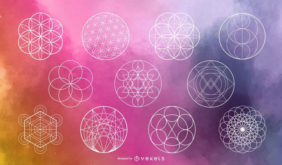 Sacred Geometry Circle Vector Set - Vector download