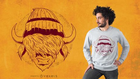 Hipster buffalo t-shirt design