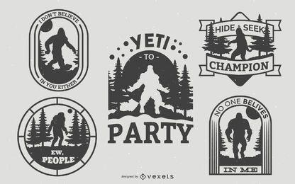 Pacote de emblemas Bigfoot