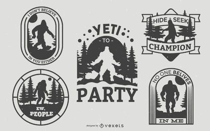 Paquete de insignias de Bigfoot