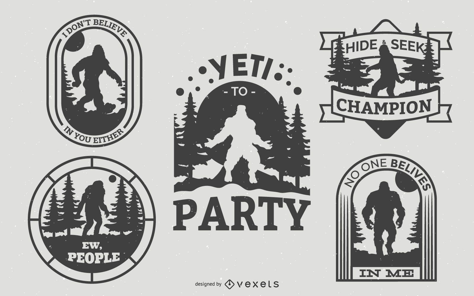 Paquete de insignias Bigfoot