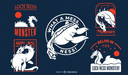 Colección de insignias del monstruo del lago Ness