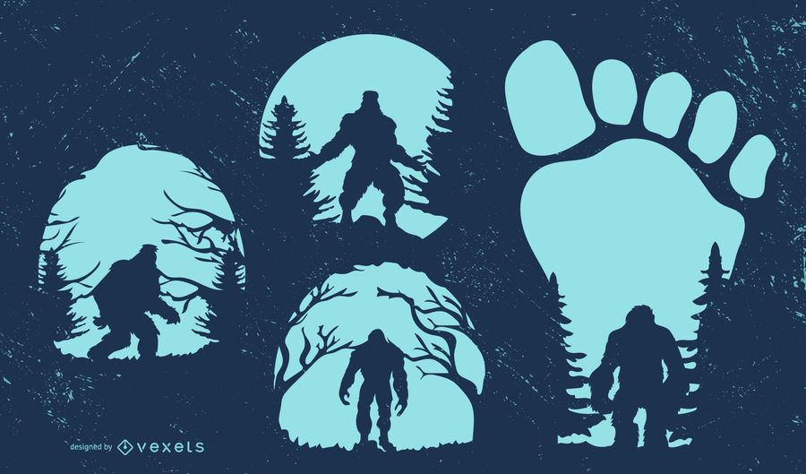 Bigfoot Silhouette Design Collection