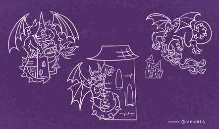 Conjunto de traço de dragão