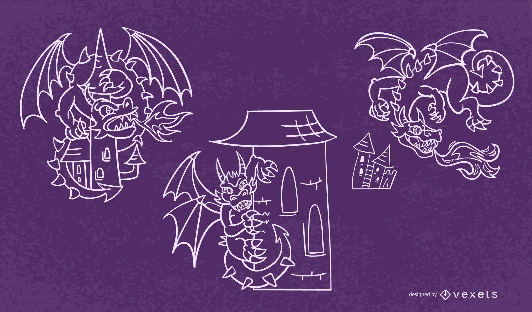 Dragon stroke set