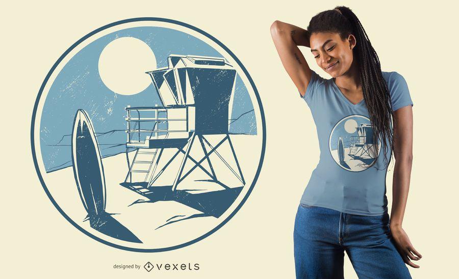 Design de t-shirt de praia da Califórnia