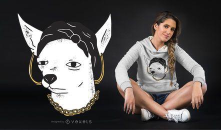 Design de t-shirt de mulher chihuaua
