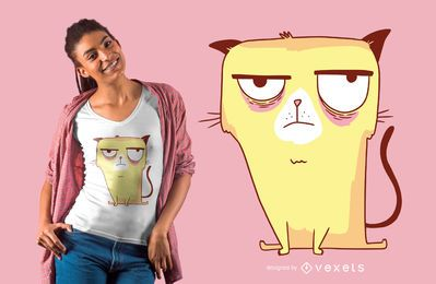 Grumpy yellow cat t-shirt design