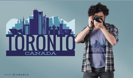 Design de t-shirt do horizonte de Toronto