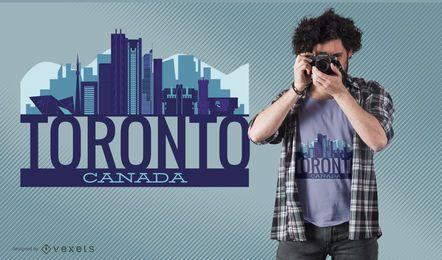 Toronto-Skyline-T-Shirt Entwurf