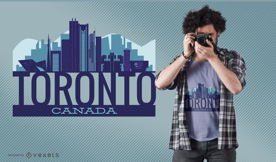 Diseño de camiseta del skyline de Toronto