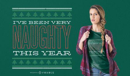 Frecher Weihnachtst-shirt Entwurf