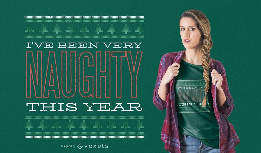 Naughty christmas t-shirt design