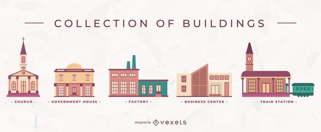 Coleção de edifícios