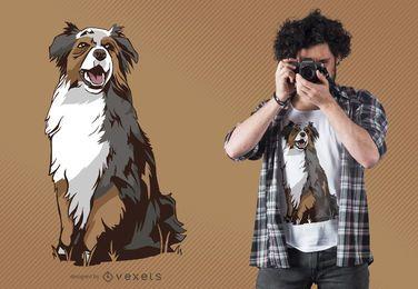Design de camiseta para cão pastor australiano