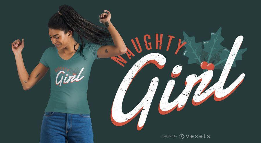 Christmas naughty girl t-shirt design