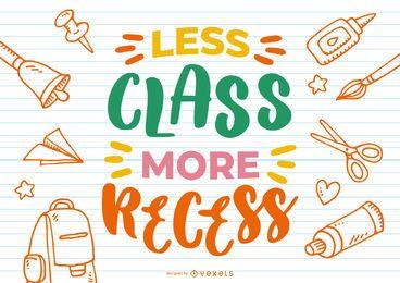 Menos diseño de letras de clase