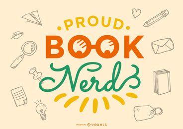 Poud book nerd lettering design