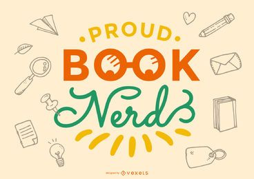 Poud book nerd rotulación diseño