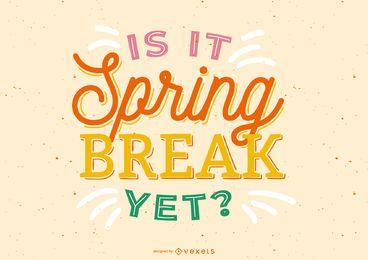 Diseño de letras de vacaciones de primavera