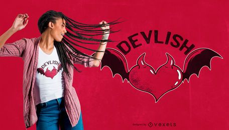 Devil heart t-shirt design