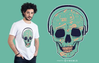 Skull DJ t-shirt design