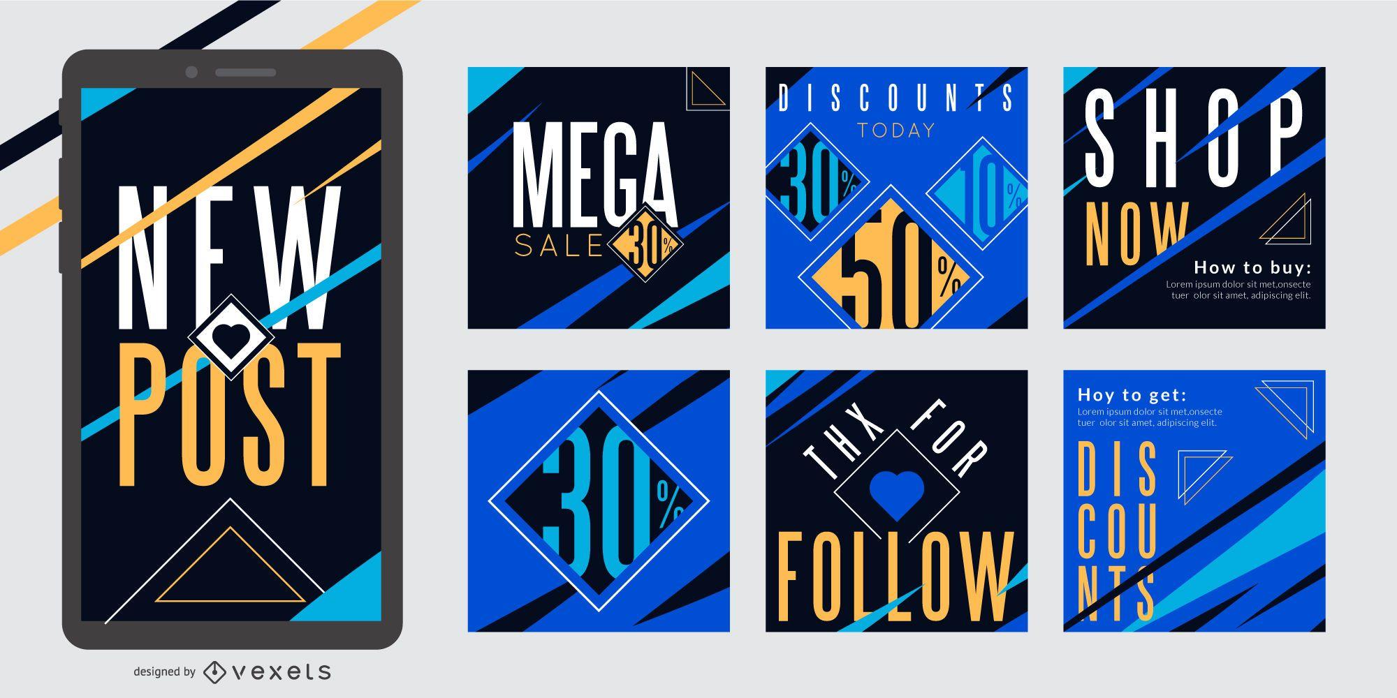 Social Media Promo Post Template Pack