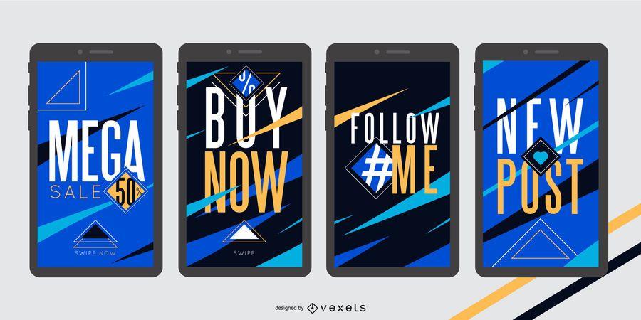 Social Story Digital Banner Template Pack