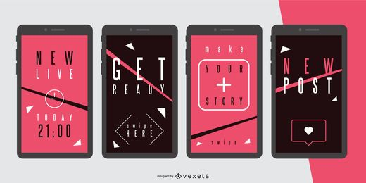 Social Story Banner Design Set
