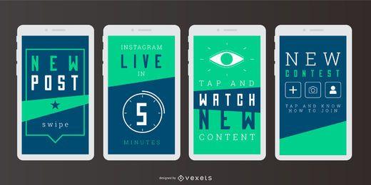 Soziale Geschichte Digital Banner Set