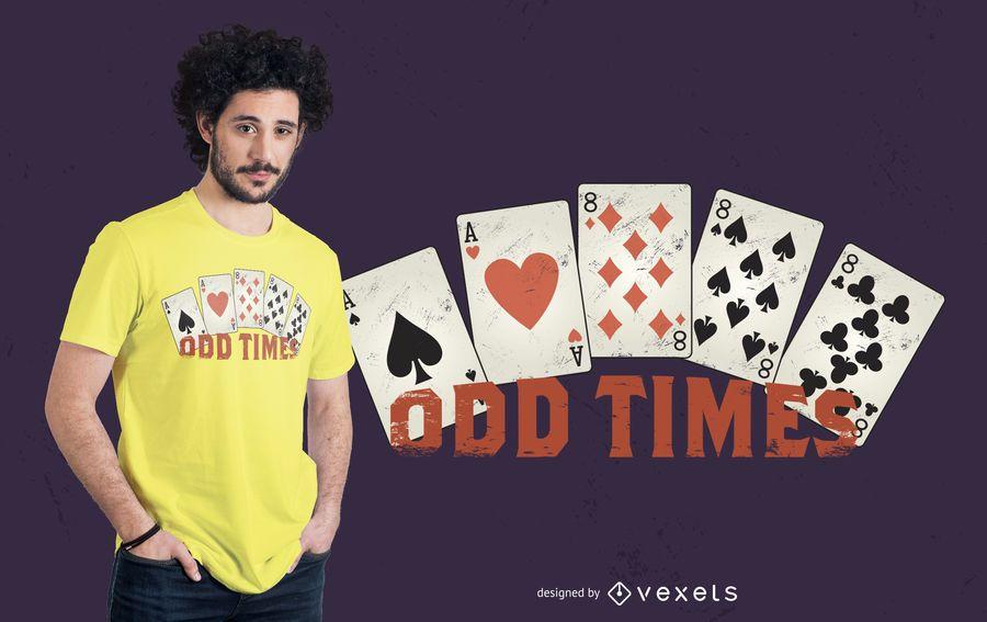 Odd times design de t-shirt