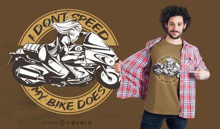 Minha bicicleta faz o design de camisetas