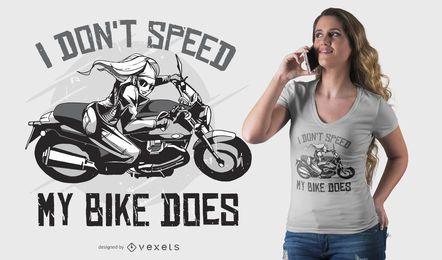 Design de t-shirt de citação de velocidade