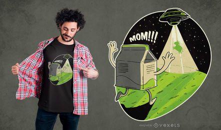 Design de t-shirt de vaca ufo