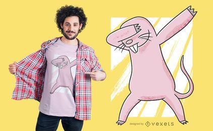 Dabbing toupeira rato t-shirt design